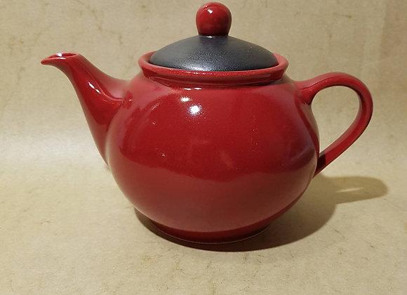 Teekanne (1,4 Liter) Rot-Schwarz