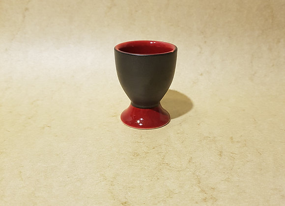 Eierbecher Rot-Schwarz