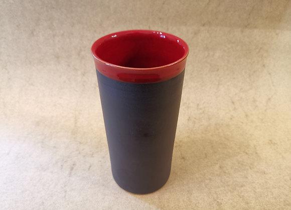 Zylinderbecher Rot-Schwarz
