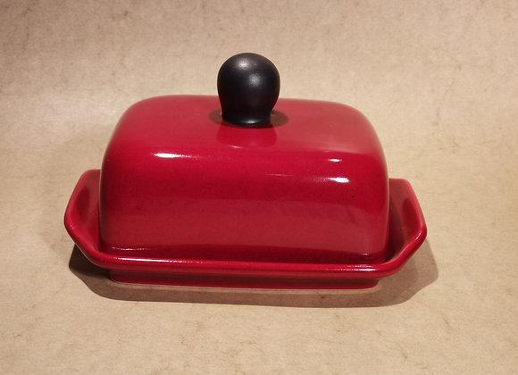 Butterdose Rot-Schwarz