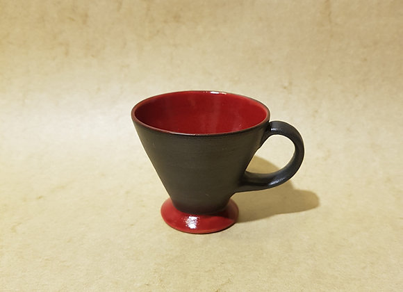 Espressotasse Rot-Schwarz