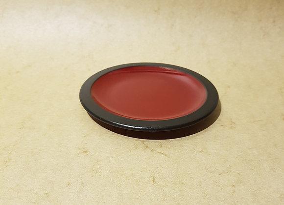 Espressoteller Rot-Schwarz