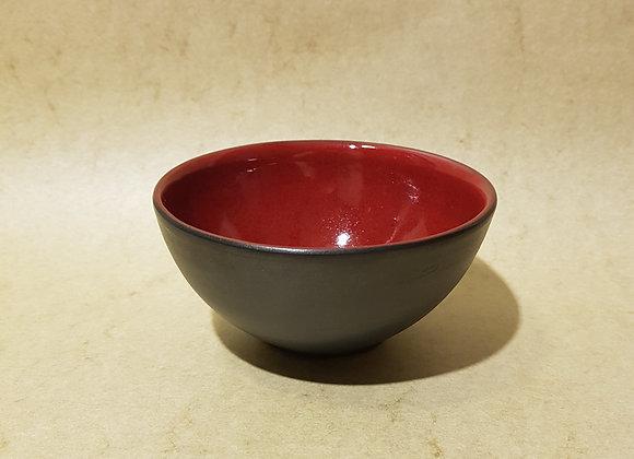Teeschale Rot-Schwarz