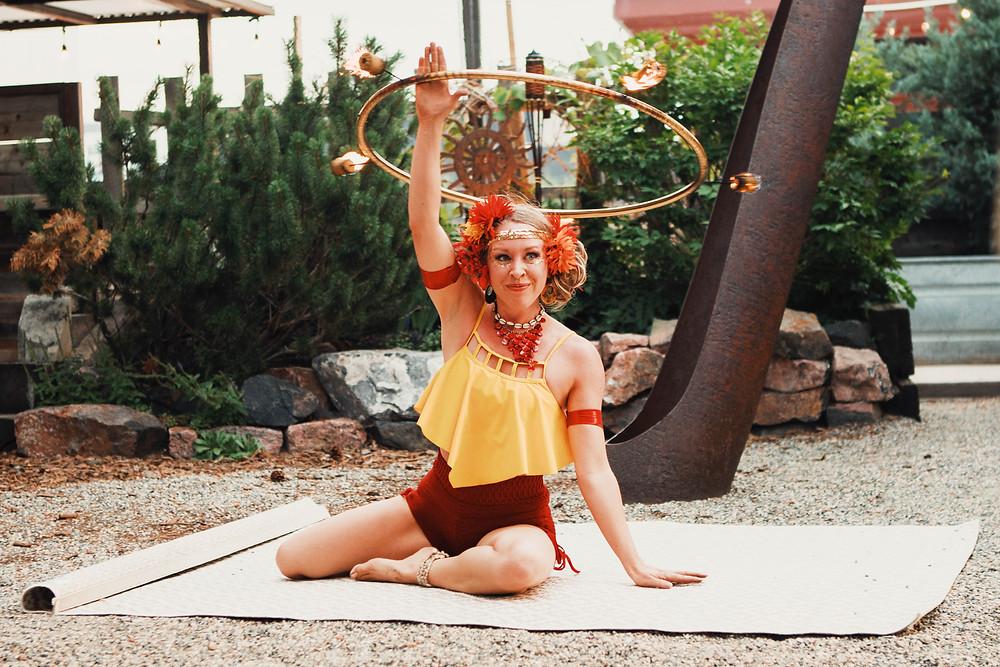 hula hooper circus performer colorado
