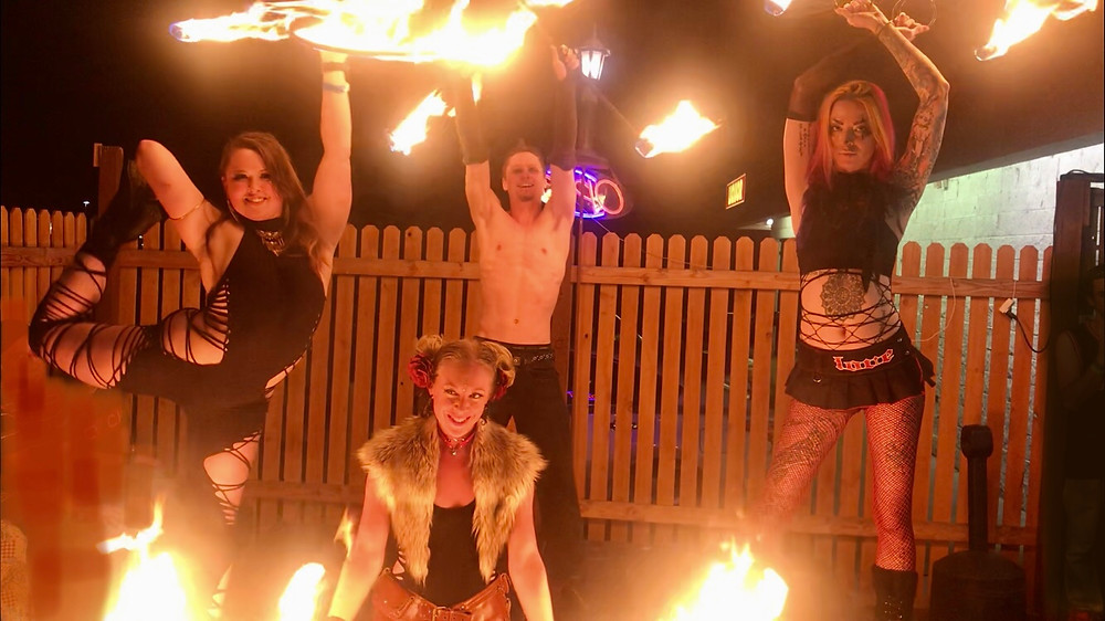 dance party fire show circus entertainment Lakewood Colorado