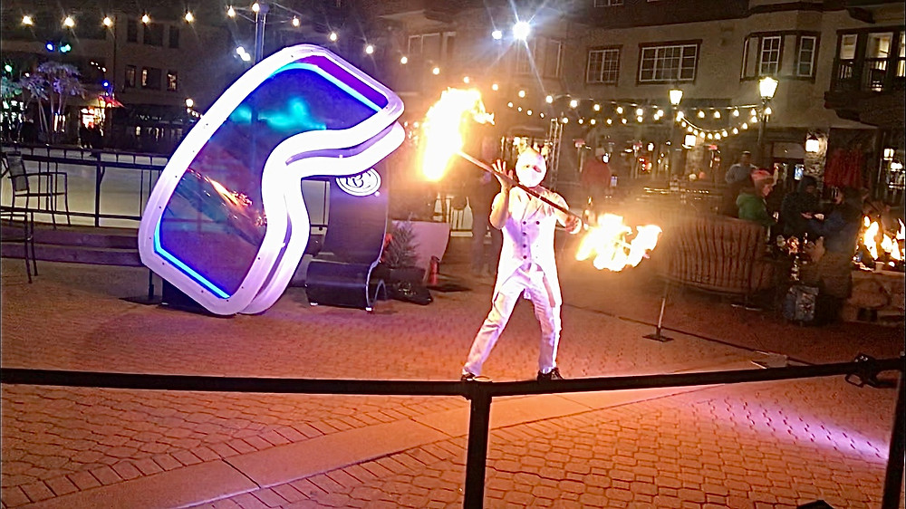 fire dancers in Vail