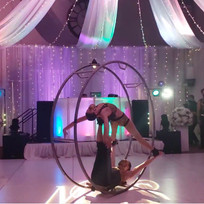 Acrobats, hula hoopers, and aerialists as unique wedding entertainment in Vail