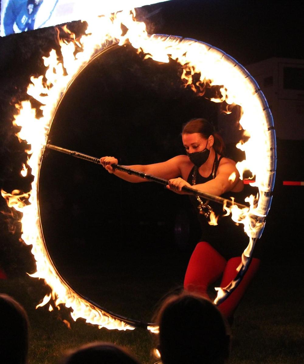 fire dancers in Denver