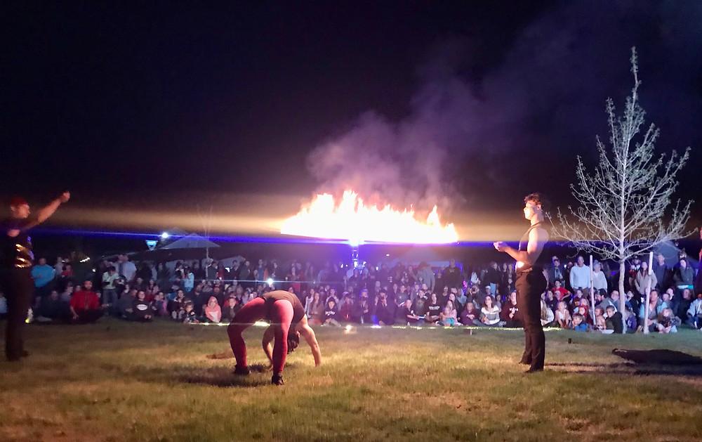 fire show in Colorado