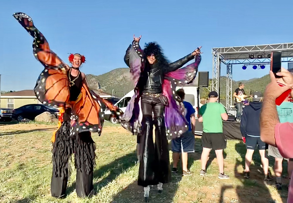 stilt walkers circus event entertainment Estes park