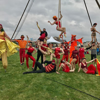 All-day circus entertainment production for a family festival in Windsor