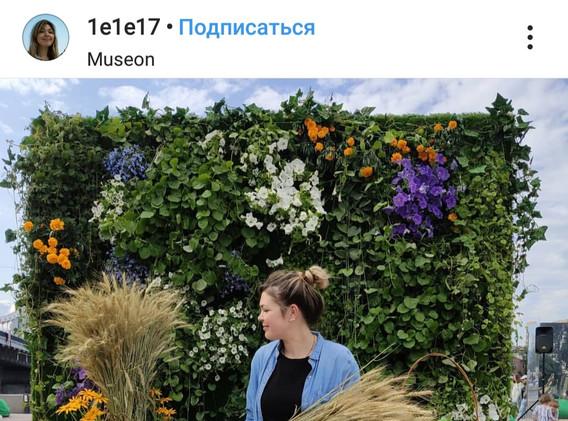 Фотозона с живыми растениями