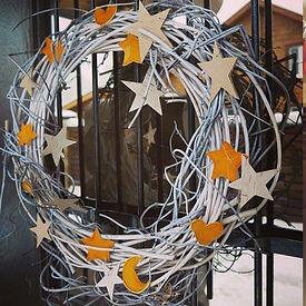 Дверной новогодний венок