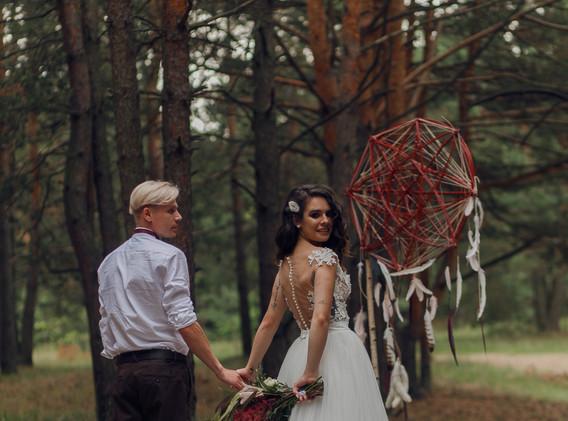 Арка на свадьбу мандала