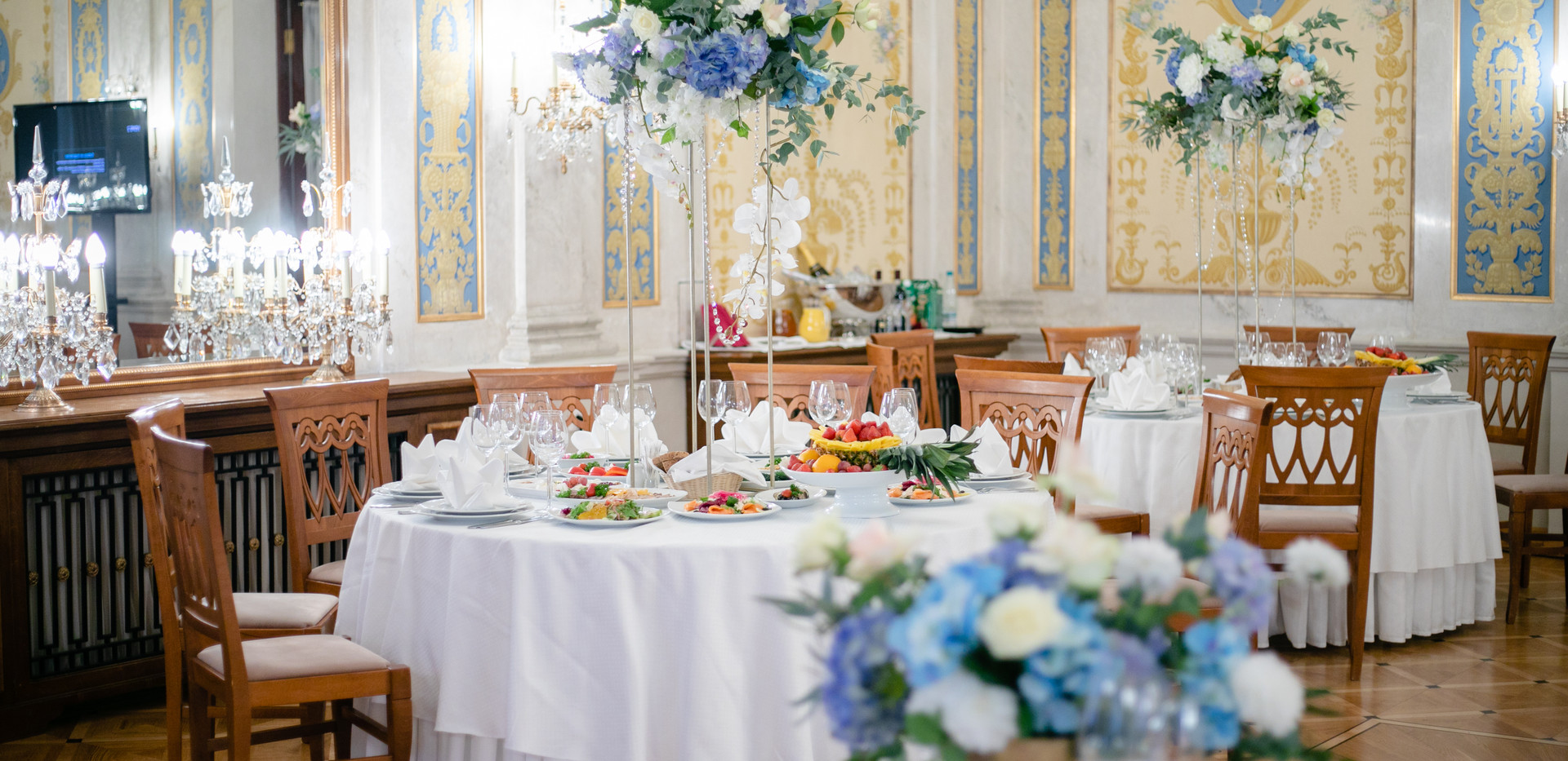 Композиции на столы на свадьбу
