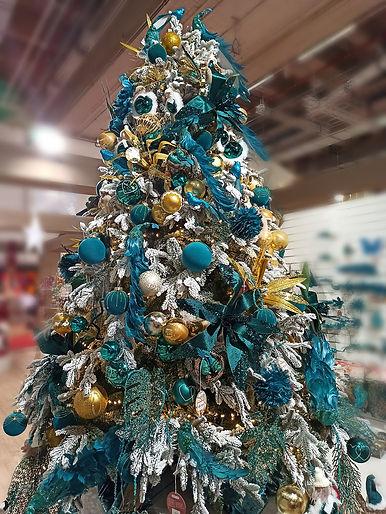 Новогодняя ёлка в аренду аквамарин золото.jpg