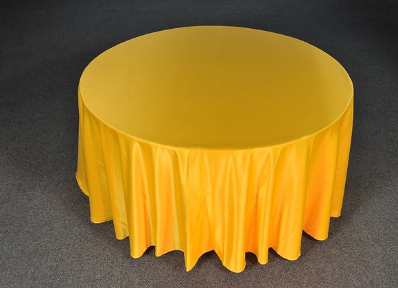Mantel Redondo Amarillo Bandera