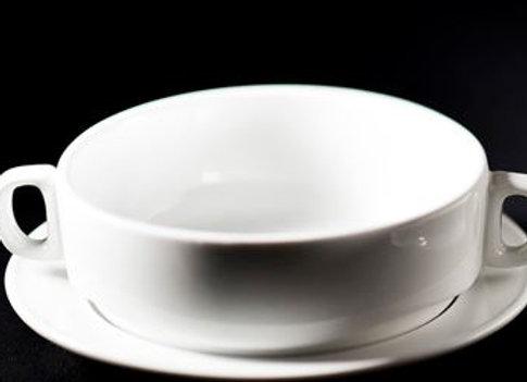 Taza Crema y Plato Taza Material en Porcelana Línea Hotelera