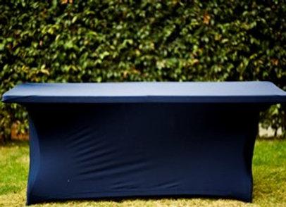 Mantel Rectangular Spandex Azul Oscuro