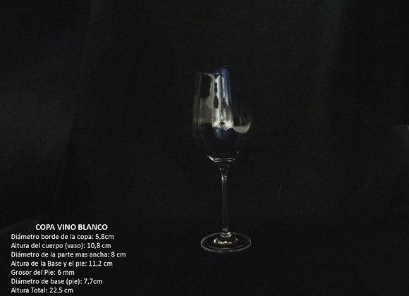 Copa Vino Blanco Syrah Material en Cristal