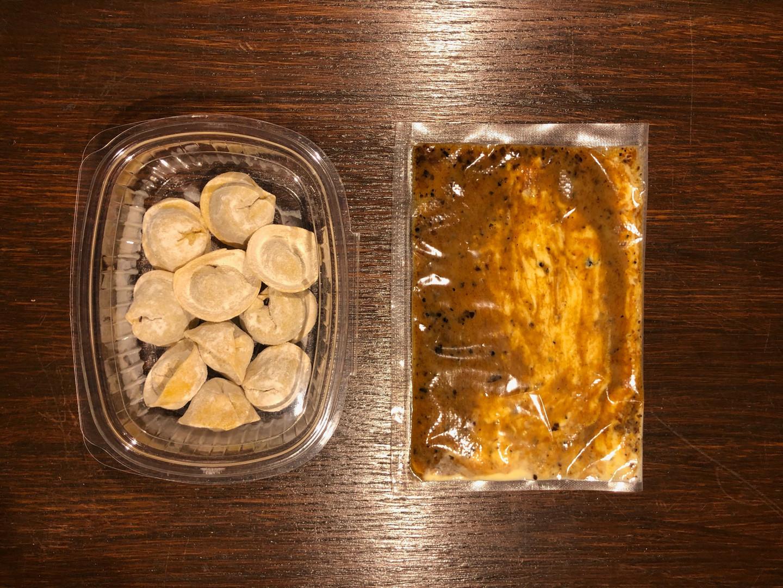 Tortelli in salsa perigueux