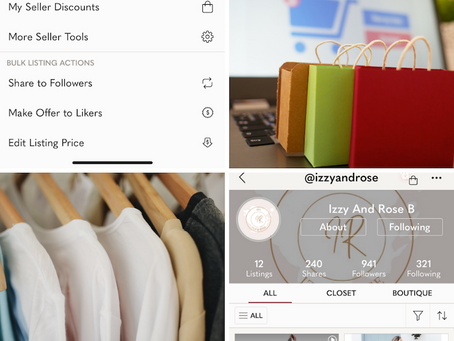MF 354 : More on bulk actions and a great Poshmark case study