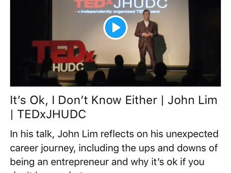 It's Ok, I Don't Know Either – John Lim speaking at #TEDxJHUDC2018