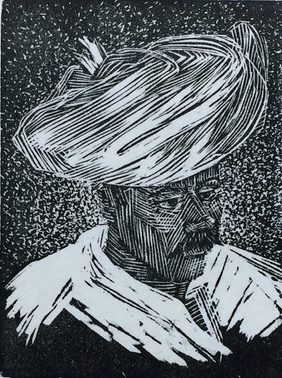 Rajasthani in a Turban