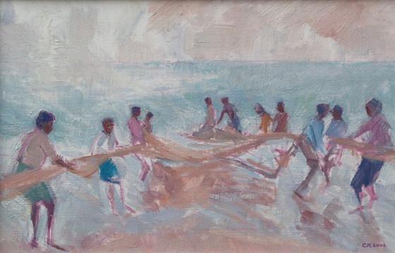 Pulling in the Madel Net, Sri Lanka
