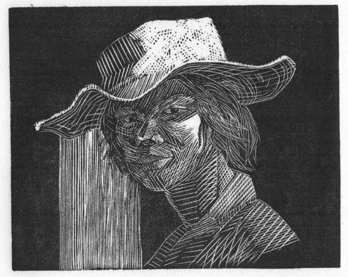 Haitian Girl in Hat 2010