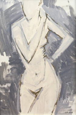 Nude with Hands on Her Hip