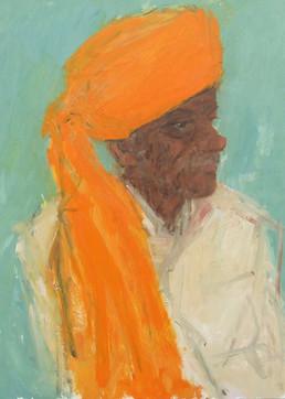 The Orange Turban, Samode Palace, Rajasthan