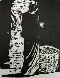 Burmese Figure with a Basket 1985