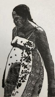 Tahitian Woman in aFloral Dress 1984