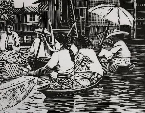 Floating market, Inle lake,Burma 1985