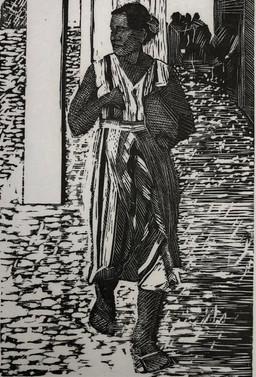 Walking Figure, Tahiti 1984