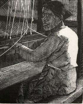 Woman Weaving, Burma 1985