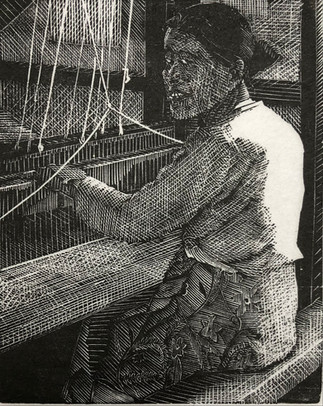 Woman Weaving, Burma 1985