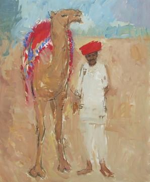 Camel and Man, Rajasthan