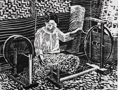 Woman at a Spinning Wheel, Burma 1985