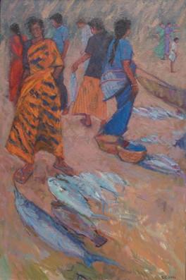 Fish Market on the Beach, Covelong