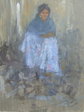 IMG_2Seated Girl, Rajasthan