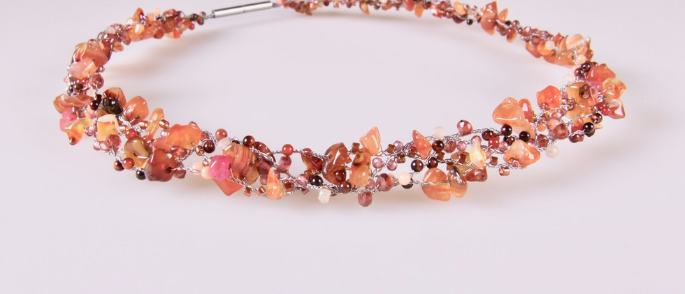 """PEARLS ON WIRE Collier """"autumn"""""""