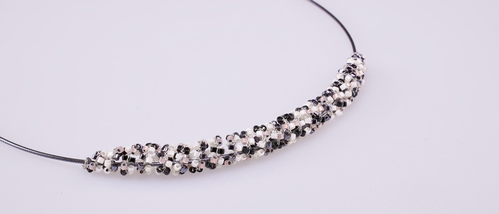 """PEARLS ON WIRE Collier """"spiral"""""""