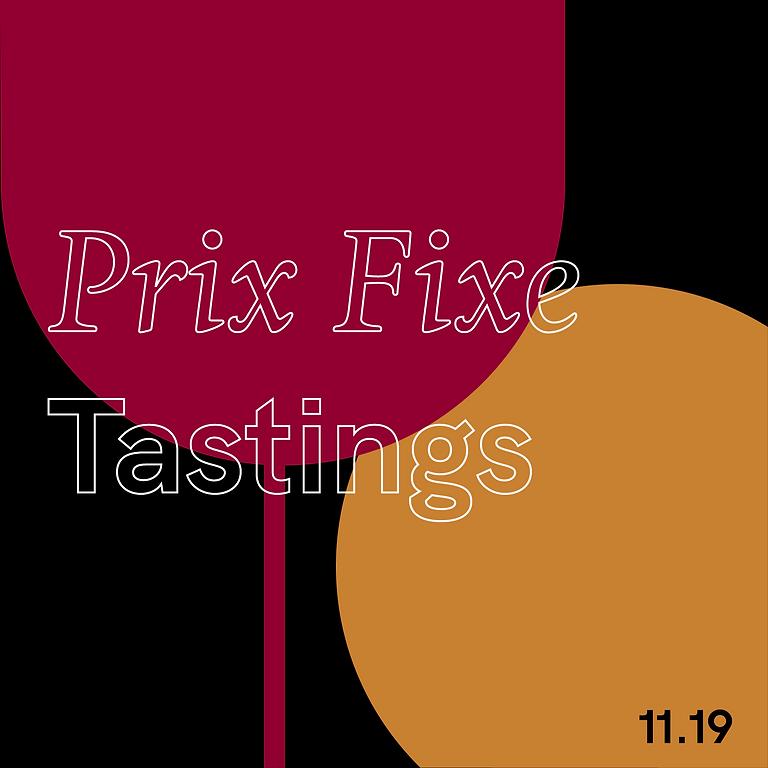 Prix Fixe Tastings