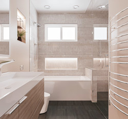 Bathroom with luxurious shower