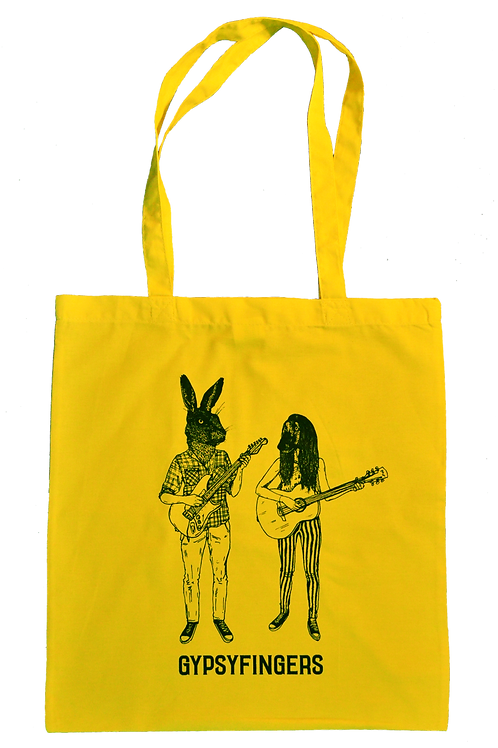 "Tote Bag - ""Hare & Hound"" (Yellow)"
