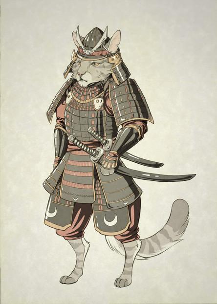 Samurai Cat