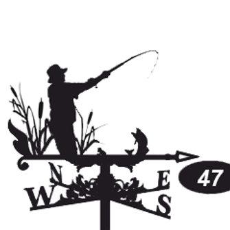 Флюгер №47 Рыбак
