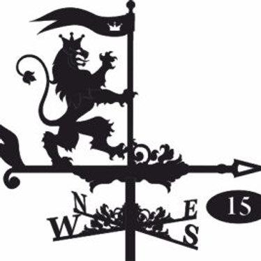 Флюгер №15 Лев с флагом